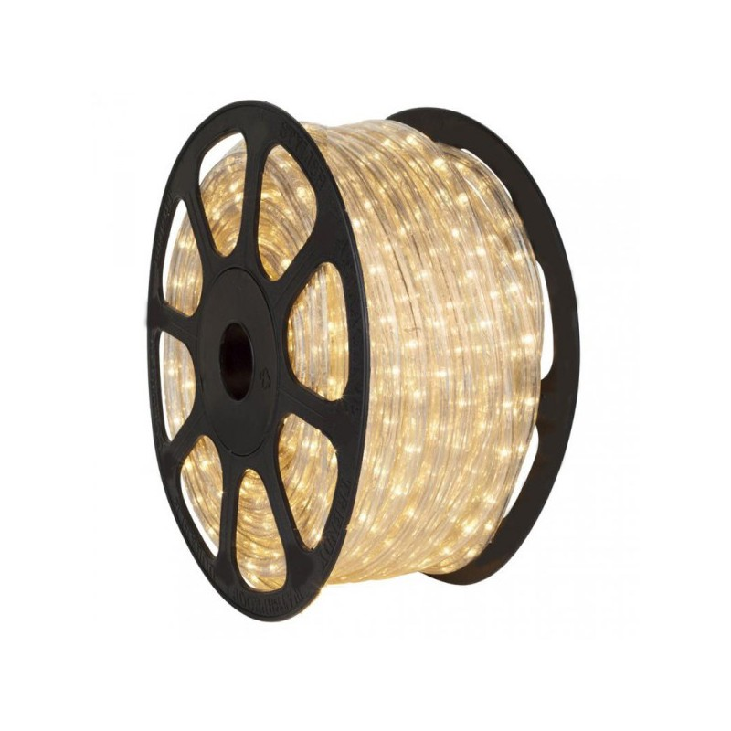 Tubo luminoso led rotolo da 50 metri lineari sezionabile for Tubi luminosi led