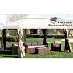Set teli zanzariere moschiere laterali ricambio gazebo 3x4 Mt Adventure
