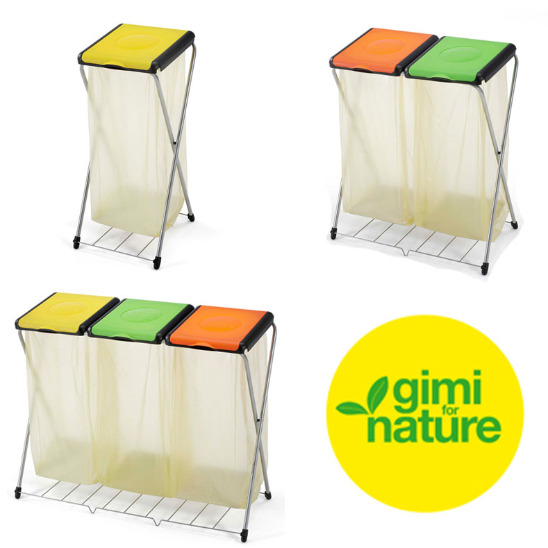 Pattumiera multipla per raccolta differenziata rifiuti - Gimi Nature Plus